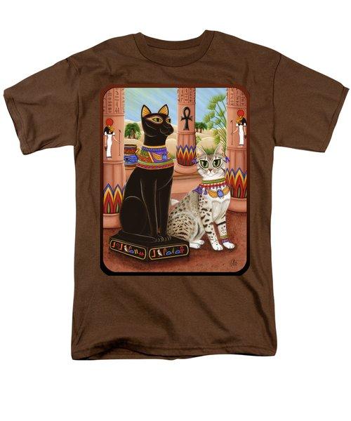 Temple Of Bastet - Bast Goddess Cat Men's T-Shirt  (Regular Fit) by Carrie Hawks