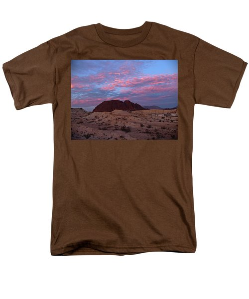 Men's T-Shirt  (Regular Fit) featuring the painting Terlingua Sunset by Dennis Ciscel