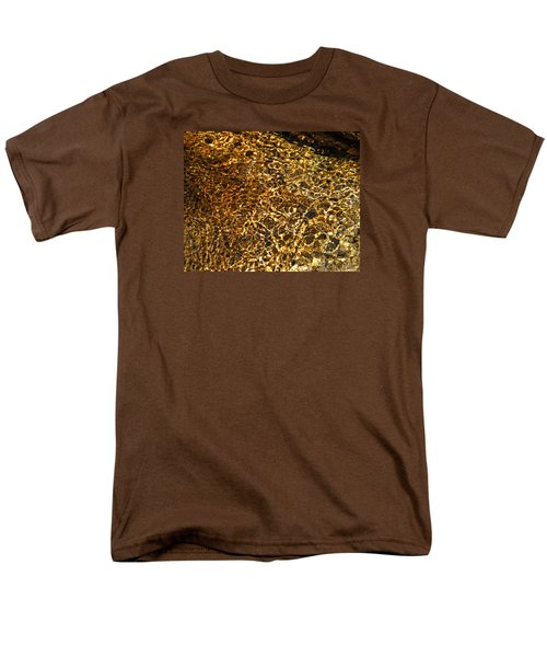 Men's T-Shirt  (Regular Fit) featuring the photograph Texture Of A Stream by Lynda Lehmann