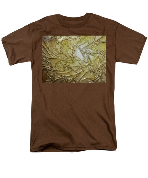 Men's T-Shirt  (Regular Fit) featuring the mixed media Textured Light by Angela Stout