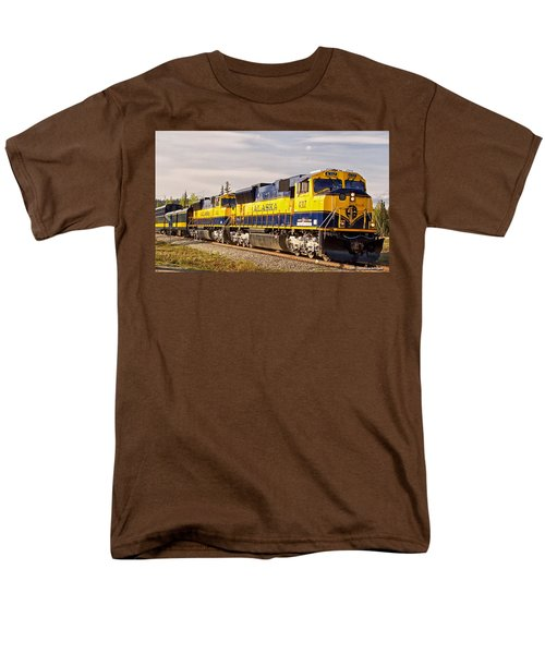 Men's T-Shirt  (Regular Fit) featuring the photograph The Alaska Railroad by Michael Rogers