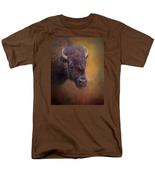 The American Bison II Men's T-Shirt  (Regular Fit) by David and Carol Kelly