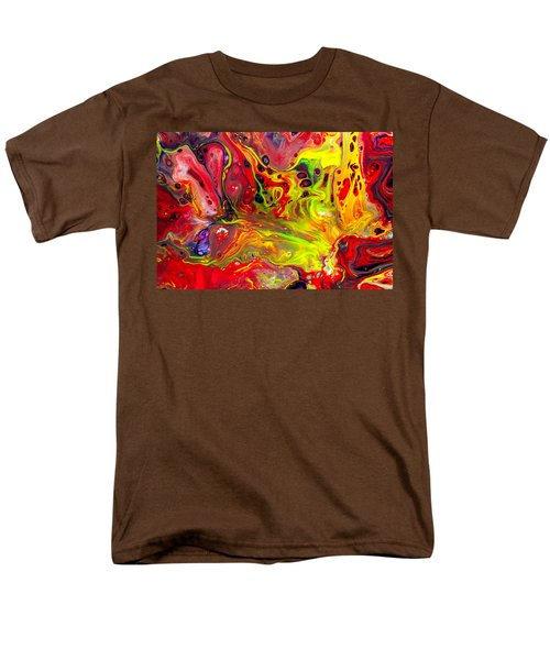 The Birth Of Diamonds - Abstract Colorful Mixed Media Painting Men's T-Shirt  (Regular Fit) by Modern Art Prints