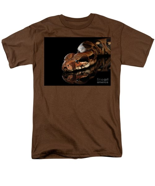 The Boa Constrictors, Isolated On Black Background Men's T-Shirt  (Regular Fit) by Sergey Taran