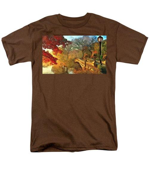 The Bow Bridge Nyc  Men's T-Shirt  (Regular Fit) by Maciek Froncisz