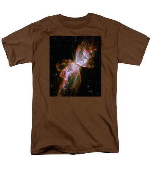 The Butterfly Nebula  Men's T-Shirt  (Regular Fit) by Hubble Space Telescope