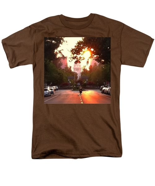 The Capitol In #sacramento #california Men's T-Shirt  (Regular Fit) by Jennifer Beaudet