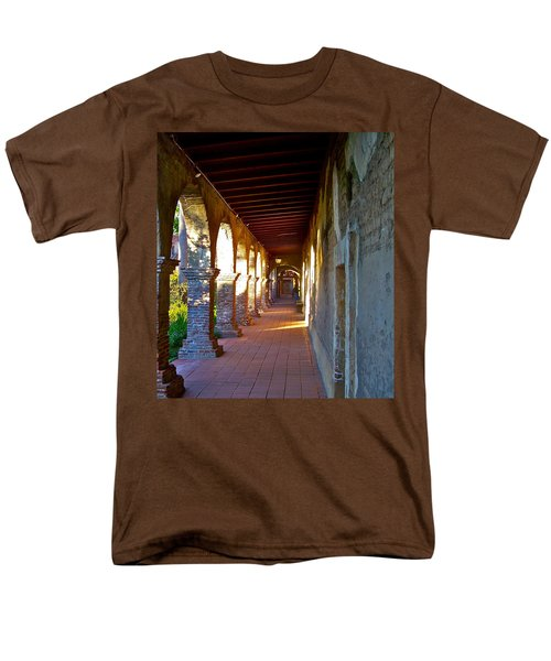The Corridor By The Serra Chapel San Juan Capistrano Mission California Men's T-Shirt  (Regular Fit) by Karon Melillo DeVega