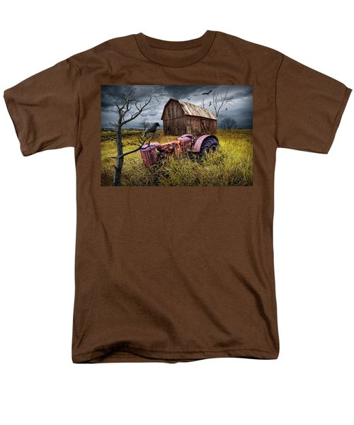 Men's T-Shirt  (Regular Fit) featuring the photograph The Decline And Death Of The Small Farm by Randall Nyhof