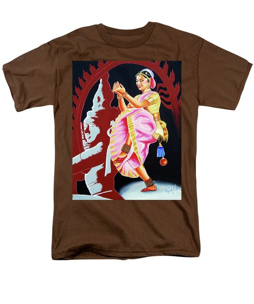 The Divine Dance Of Bharatanatyam Men's T-Shirt  (Regular Fit) by Ragunath Venkatraman