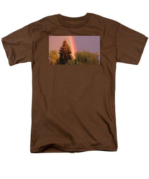 The End Of The Rainbow Men's T-Shirt  (Regular Fit) by Karen Molenaar Terrell