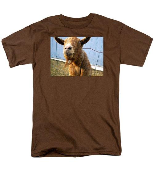 The Friendly Goat  Men's T-Shirt  (Regular Fit) by Sandra Church
