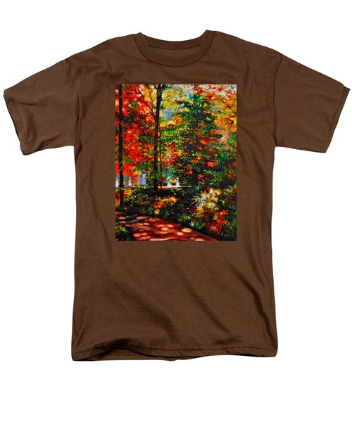 Men's T-Shirt  (Regular Fit) featuring the painting The Garden by Emery Franklin