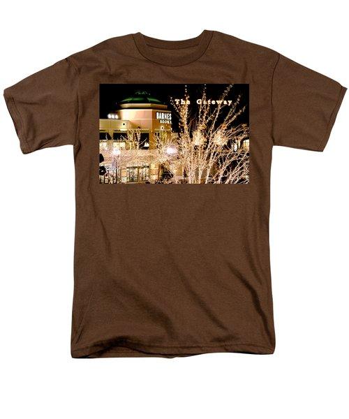 Men's T-Shirt  (Regular Fit) featuring the digital art The Gateway Mall by Gary Baird