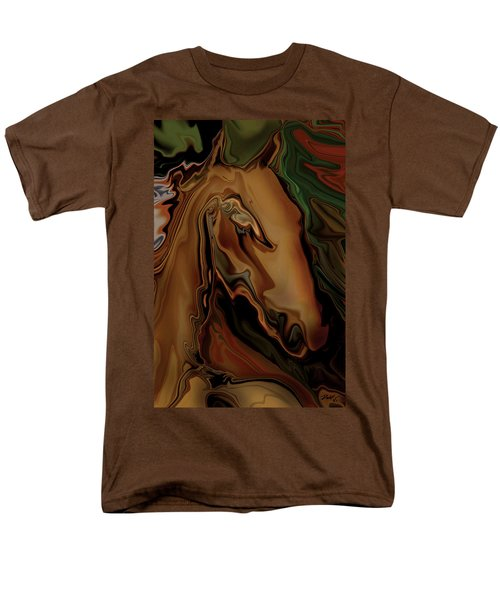 Men's T-Shirt  (Regular Fit) featuring the digital art The Horse by Rabi Khan