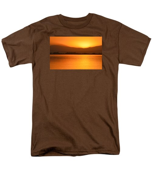Men's T-Shirt  (Regular Fit) featuring the photograph The Hour Is Golden by AJ  Schibig
