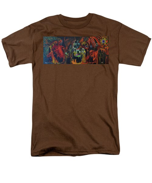 Men's T-Shirt  (Regular Fit) featuring the painting The Last Supper by Christophe Ennis