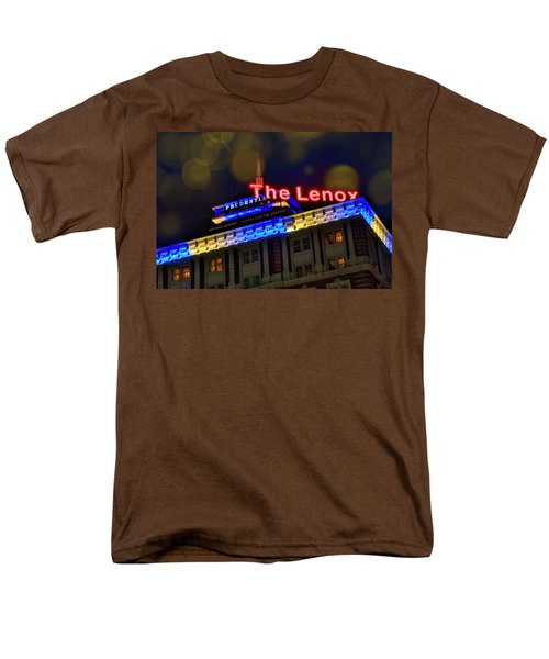 Men's T-Shirt  (Regular Fit) featuring the photograph The Lenox And The Pru - Boston Marathon Colors by Joann Vitali