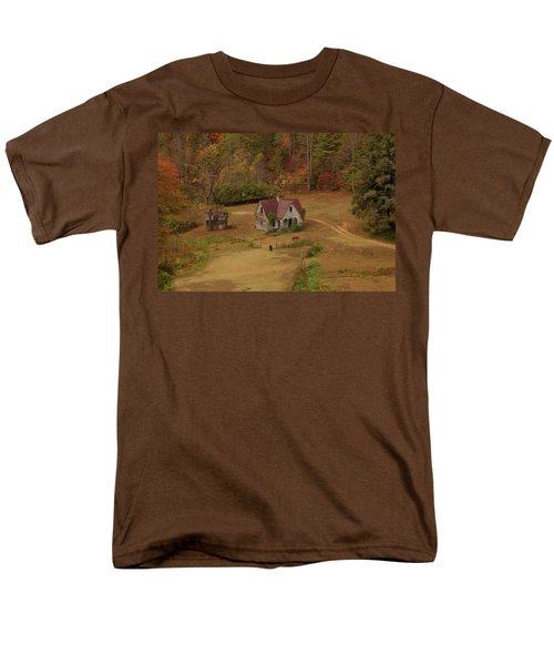The Oldest House In North Carolina Men's T-Shirt  (Regular Fit) by Sharon Batdorf