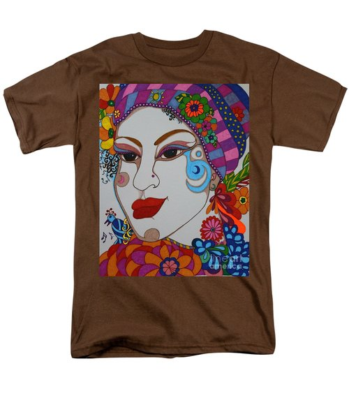 The Opera Singer Men's T-Shirt  (Regular Fit) by Alison Caltrider