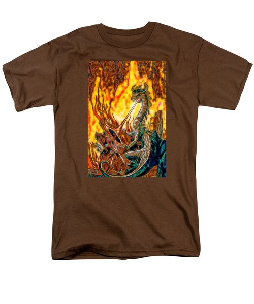 Men's T-Shirt  (Regular Fit) featuring the painting The Prince Battles The Dragon by Mario Carini