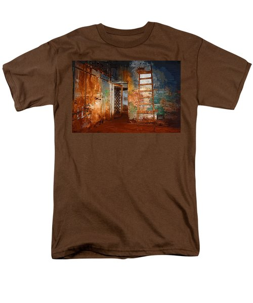 Men's T-Shirt  (Regular Fit) featuring the painting The Renovation by Holly Ethan