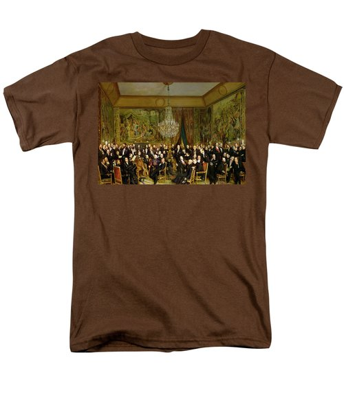 The Salon Of Alfred Emilien At The Louvre Men's T-Shirt  (Regular Fit) by Francois Auguste Biard