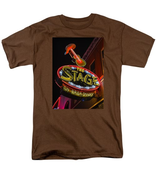 The Stage On Broadway Men's T-Shirt  (Regular Fit) by Stephen Stookey