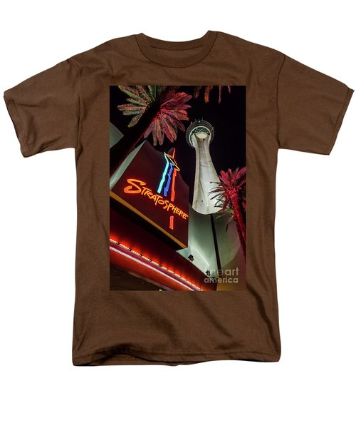 Men's T-Shirt  (Regular Fit) featuring the photograph The Stratosphere Tower Entrance by Aloha Art