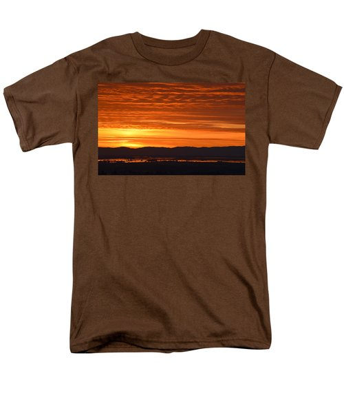 Men's T-Shirt  (Regular Fit) featuring the photograph The Textured Sky by AJ Schibig