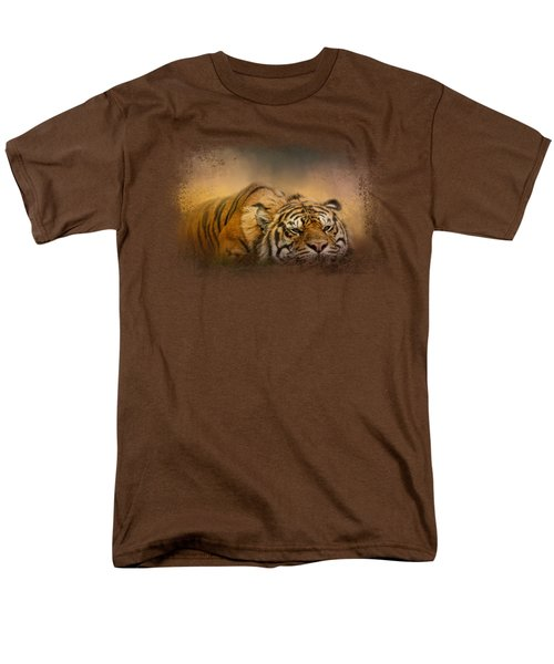 The Tiger Awakens Men's T-Shirt  (Regular Fit) by Jai Johnson