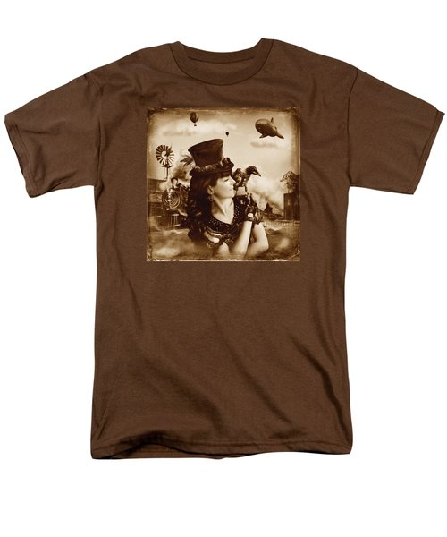 The Traveler Vintage Sepia Version Men's T-Shirt  (Regular Fit) by Alessandro Della Pietra