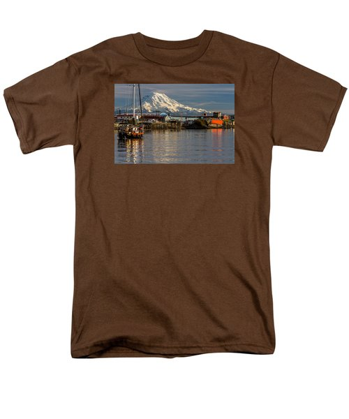 Men's T-Shirt  (Regular Fit) featuring the photograph Thea Foss Waterway And Rainier 1 by Rob Green