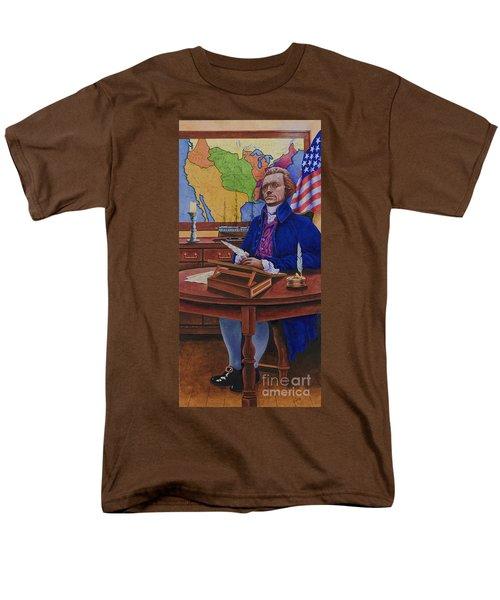 Thomas Jefferson Men's T-Shirt  (Regular Fit) by Michael Frank