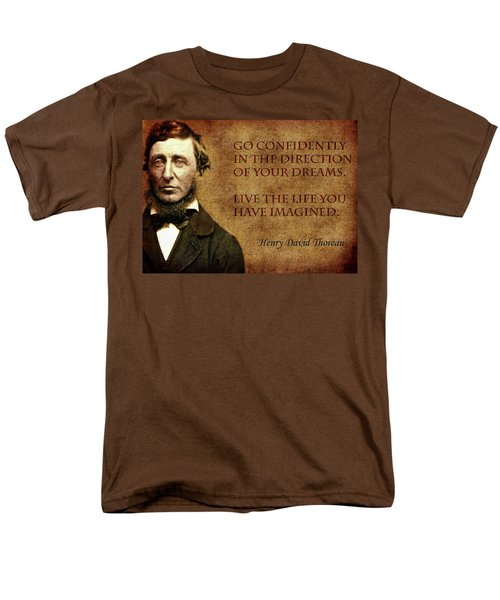 Thoreau Quote 1 Men's T-Shirt  (Regular Fit) by Andrew Fare