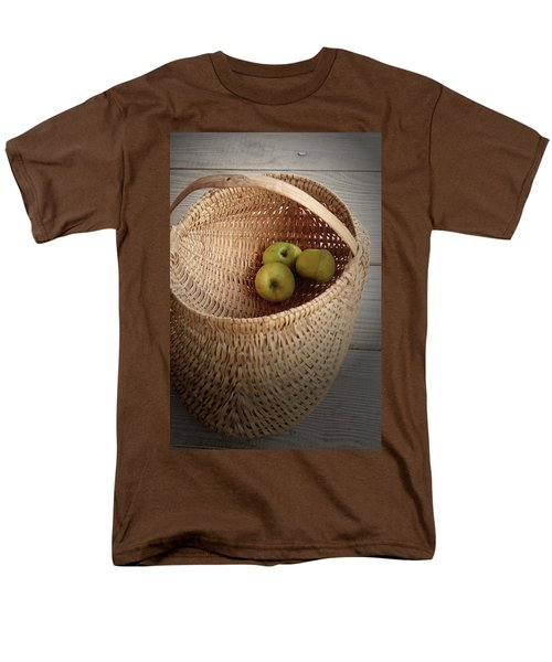 Men's T-Shirt  (Regular Fit) featuring the photograph Three Apples by Emanuel Tanjala