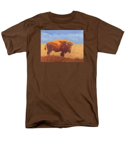 Men's T-Shirt  (Regular Fit) featuring the painting Thunder On The Prairie by Nancy Jolley