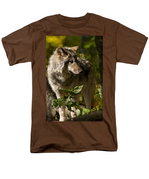 Men's T-Shirt  (Regular Fit) featuring the photograph Timber Wolf by Michael Cummings