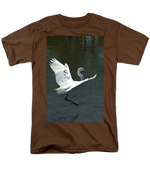 Time To Land Men's T-Shirt  (Regular Fit) by Carolyn Marshall