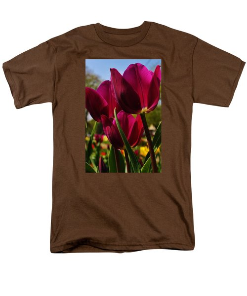 Men's T-Shirt  (Regular Fit) featuring the photograph Tip Toe Through The Tulips by Bruce Bley