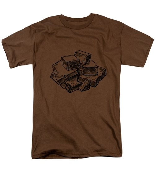 Toffee Fudge And Caramel  Men's T-Shirt  (Regular Fit) by Irina Sztukowski