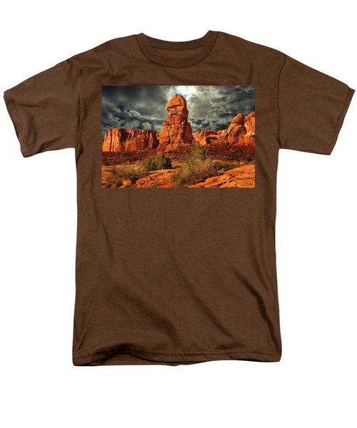 Men's T-Shirt  (Regular Fit) featuring the photograph Towering Rock by Harry Spitz