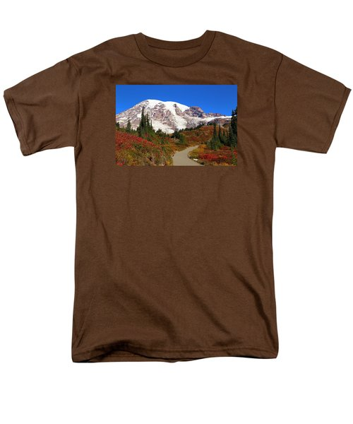 Men's T-Shirt  (Regular Fit) featuring the photograph Trail To Myrtle Falls 2 by Lynn Hopwood