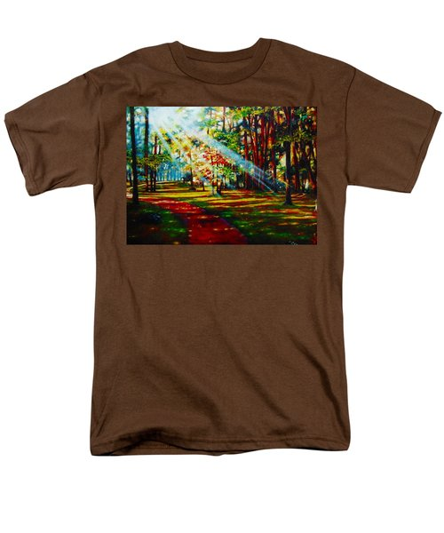 Men's T-Shirt  (Regular Fit) featuring the painting Trails Of Light by Emery Franklin