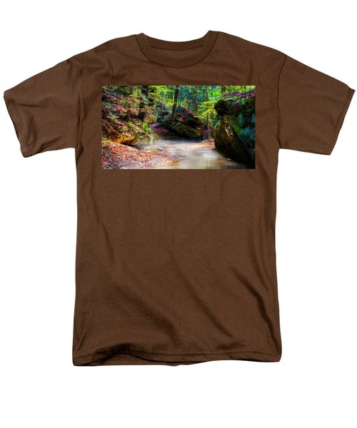 Men's T-Shirt  (Regular Fit) featuring the photograph Tranquil Mist by David Morefield