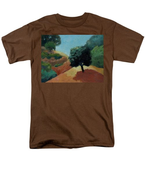 Men's T-Shirt  (Regular Fit) featuring the painting Tree Alone by Gary Coleman