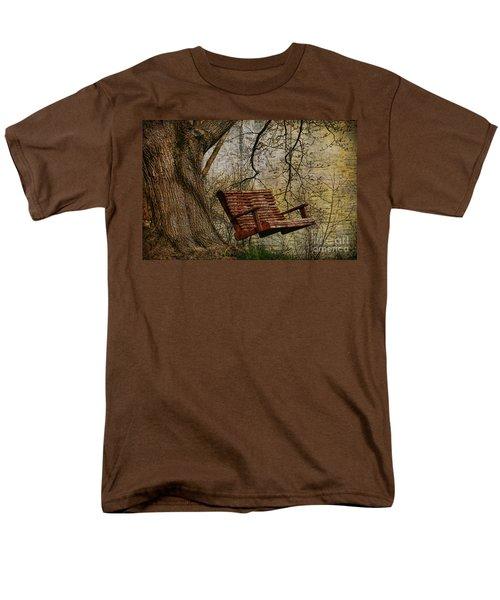 Tree Swing By The Lake Men's T-Shirt  (Regular Fit) by Deborah Benoit