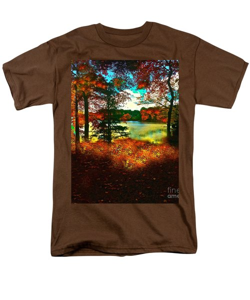 Trees And Shadows In New England Men's T-Shirt  (Regular Fit) by Saundra Myles