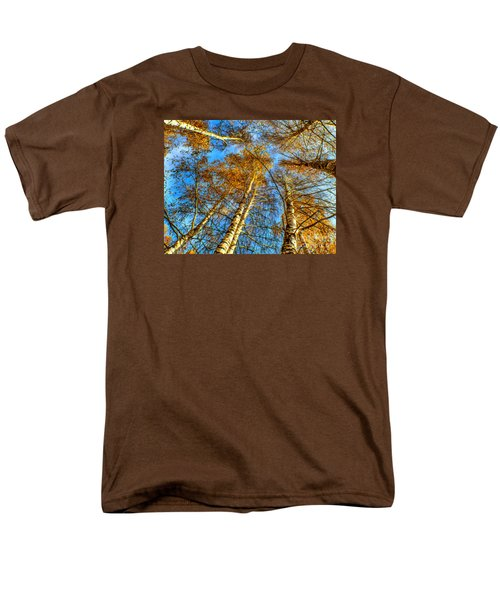 Trees Grow To The Sky Paint Men's T-Shirt  (Regular Fit) by Odon Czintos