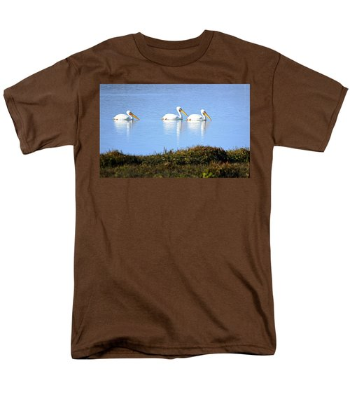 Men's T-Shirt  (Regular Fit) featuring the photograph Tres Pelicanos Blancos by AJ Schibig